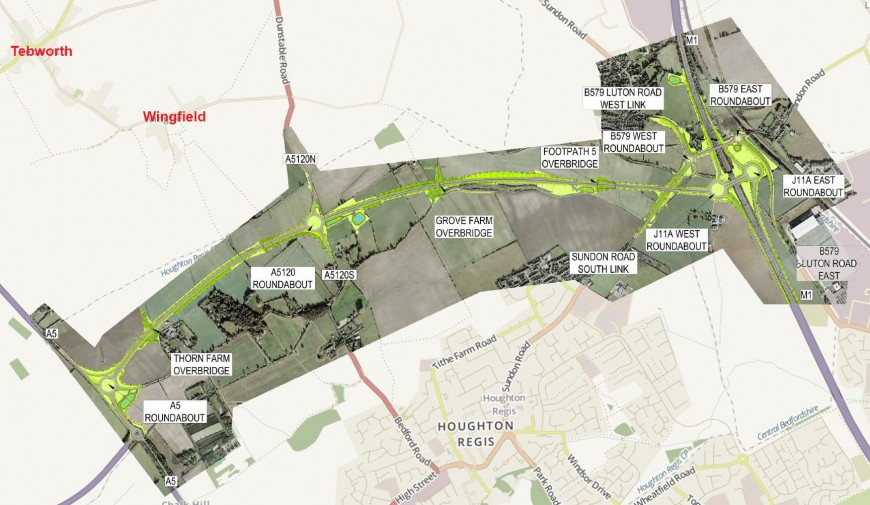 Map - A5-M1 Link Road