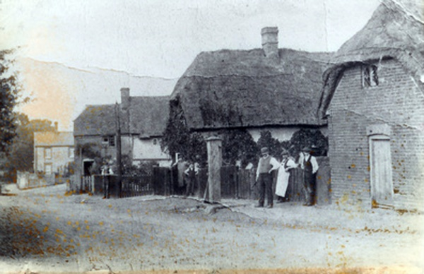 View down The Lane with Fred Groves and his brothers