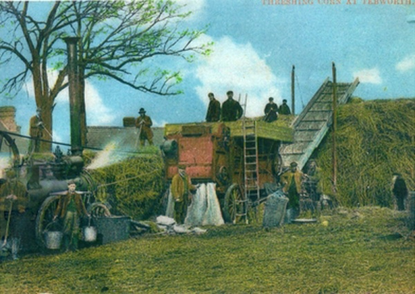 Threshing Corn in Tebworth